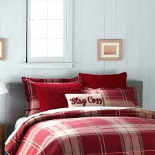 ralph lauren plaid comforter red
