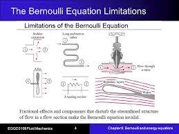 the bernoulli equation limitations