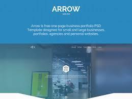 Business Portfolio Template Arrow One Page Business Portfolio Template Free Psd