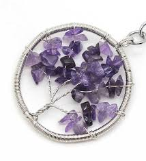 wire wrapped amethyst pendant