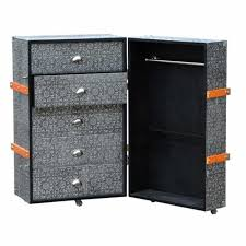Luggage With Drawers Chaandhi Kar Blackened Silver Embossed Luggage Trunk And Drawers