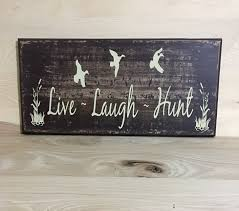 live laugh hunt sign wood sign country home decor cabin