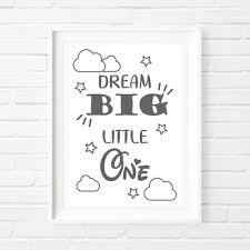 dream big little one wall decor gift kids nursery bedroom children