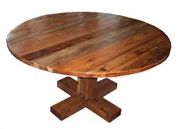 round reclaimed wood dining table iron with regard to decorations 14