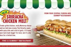 subway s sriracha en melt