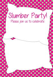 sleepover template free printable slumber party invitation party ideas pinterest