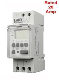 programmable timer switch 240v ac 20a din rail mounted 24 hour 240v ac programmable digital timer switch 20a din rail switchboard mounted