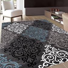 rug decor modern transitional soft damask area rug 5 3 by 7 3