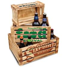 wooden display crates