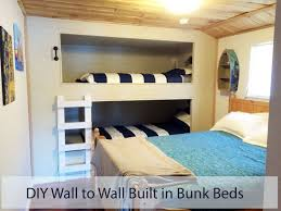 diy wall to wall bunk beds built in bunk beds tutorial