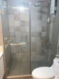 glass projects shower enclosure wall and bathroom mirror shelves