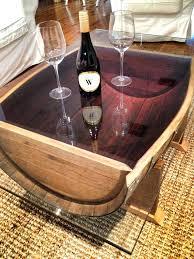 reversible reclaimed wine barrel. Wine Barrel Coffee Table Glass Top Wood Designs . Reversible Reclaimed