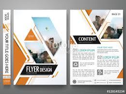 Company Portfolio Template Interesting Brochure Design Template VectorSquare Layout In Cover Book