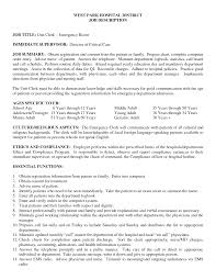 Prepossessing Patient Registration Resume Examples With Sample