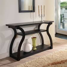 Modern office lobby Marble Console Table Modern Curved Dark Wood Entry Hallway Office Lobby Foyer Shelves Ebay Console Table Black Modern Curved Wood Entry Hallway Office Lobby