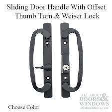 sliding door handle with lock legacy glass sliding door handle keyed with offset choose color sliding