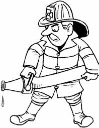 Kleurennu Brandweerman Met Slang Kleurplaten