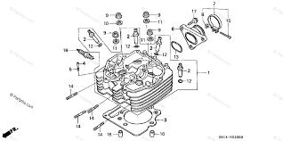 honda atv 2002 oem parts diagram for cylinder head partzilla com