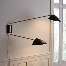 curvilinear mid century wall sconce