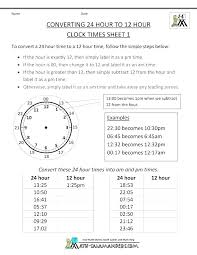 Military Minutes Conversion Military Time Conversion Chart