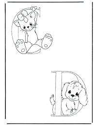 C En D Kleurplaat Alfabet