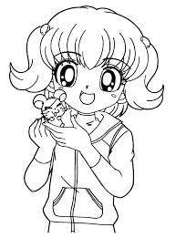 Anime Girl Coloring Pages For Kids