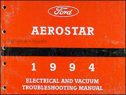 1994 ford aerostar foldout wiring diagram original 1994 ford aerostar electrical and vacuum troubleshooting manual