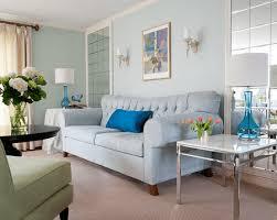 light blue walls and sofa
