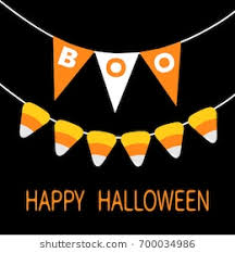 vector happy card candy corn bunting flags pack boo letters flag garland