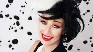 cruella de vil i 101 dalmatians makeup tutorial