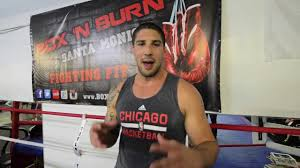 personal with olympic boxer tony jeffries in box n burn boxing gym santa monica