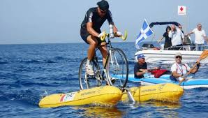 On An Amphibious Shuttle Bike Across The English Channel The