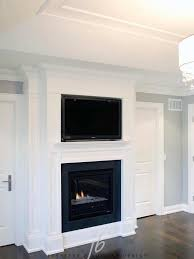 tv niche over fireplace