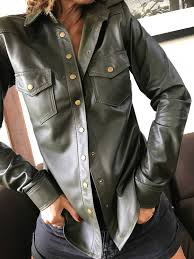 patti leather shirt