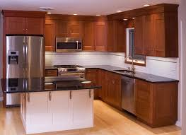 Cherry Cabinet Kitchens Small Kitchen With Cherry Wood Cabinets Cliff Kitchen