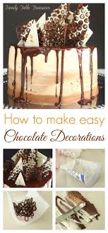 How To Make Chocolate Designs For Cake How To Make Easy Chocolate Decorations Easy Cake