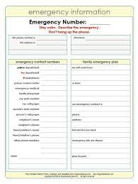 Emergency Phone Number List Template Job Billybullock Us