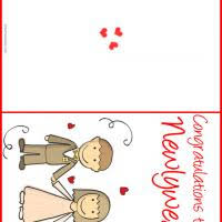 congratulations to the newlyweds Wedding Greeting Cards Printable Wedding Greeting Cards Printable #49 free printable wedding greeting cards