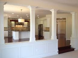 Affordable Half Wall With Column And Basement Columns Design Ideas For  Baseme X
