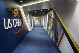 Infinite Scale Design Usta Player Hallway With Digital Ribbon And Environmental