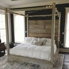 Image 0 White Wood Canopy Bed Full Size Reclaimed – razvivashka.info