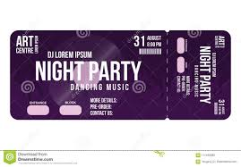Concert Invite Template Concert Ticket Template Concert Party Or Festival Ticket