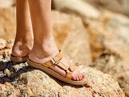 teva universal slide leather flat sandal tan women