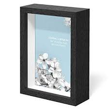 Box Picture Frame Swing Design Chroma Shadow Box Frame 5 By 7 Inch Black