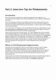 Resume For An Interview Phlebotomy Skills For Resume Fresh Resume Writing