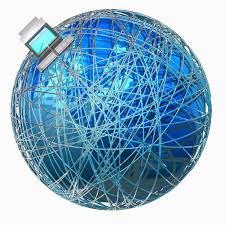what s the difference between the internet and the web illustration representing the world wide web spanning the globe