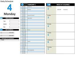 Personal Planner Template Free Weekly Schedule Templates For Excel Smartsheet Year