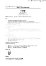 58 Elegant Sample Resume For Civil Engineering Student Template Free