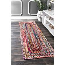 nuloom mgnm04a handmade casual cotton braided area rugs 4 x 6 multicolor
