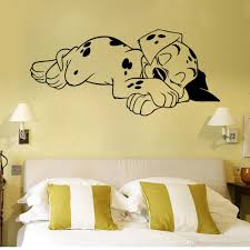 Wall Decor Stickers For Living Room Sleeping Dog Wall Art Mural Decor Living Room Sleep Puppy